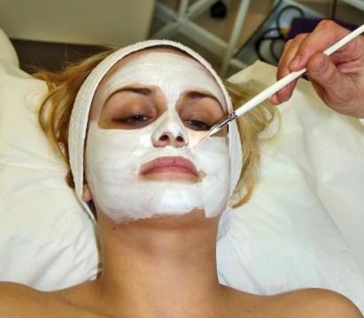 skincare produts review woman getting a facial