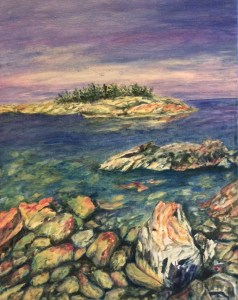 """Georgian Bay Dreams Oil on stretched canvas 16""""x 20"""""""