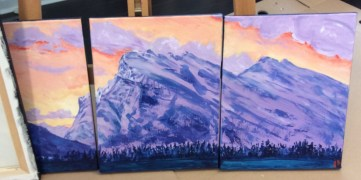 Rundle mountain triptych 11