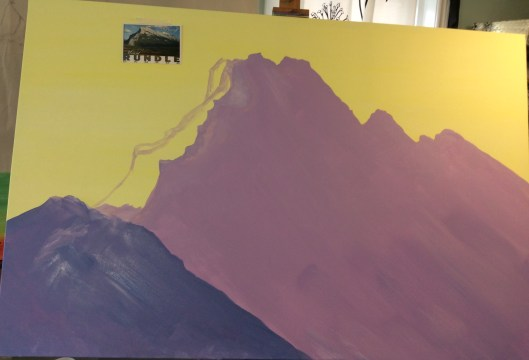 Rundle mountain adjusting paint outline 60