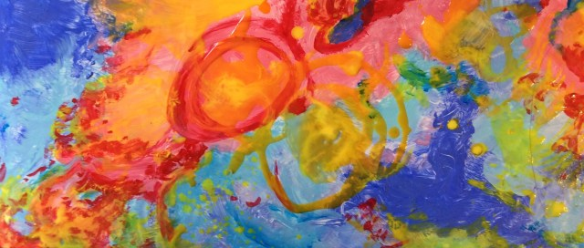 Abstraction painting was