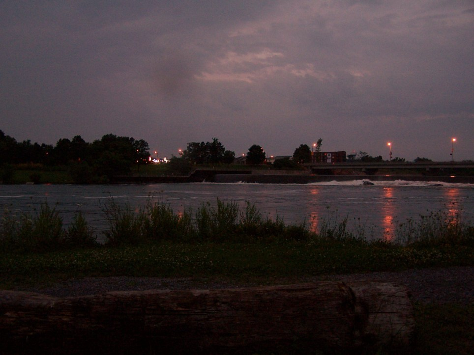 Weir by night
