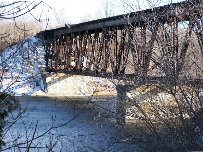 Interesting looking railroad bridge