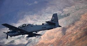 A-29 Super Tucano - missao treinamento Afeganistao 6-4-2015 - foto USAF