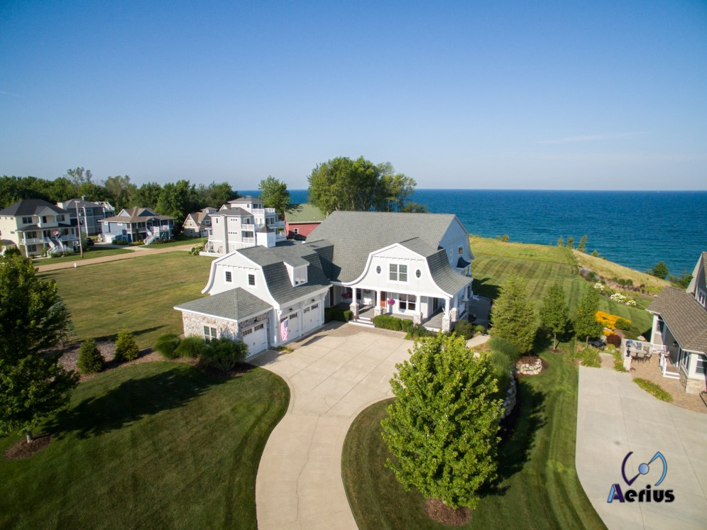 House on Lake Michigan captured by DJI Phantom 3 Pro