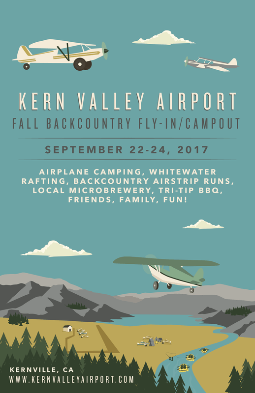 kern valley, flyout, airplane camping
