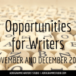 Opportunities for Writers: November and December 2014