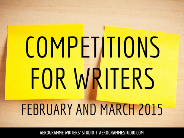 Competitions for Writers in February and March 2015