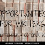 Opportunities for Writers: September and October 2016