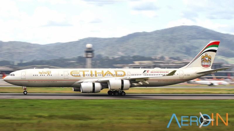 [Internacional] Piloto retorna ao gate após casal ser avisado sobre neto internado. Etihad-A340