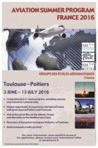 Aviation Summer Program 2016 @ ENAC | Toulouse | Midi-Pyrénées | France