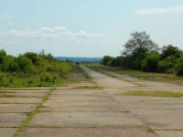 Looking down the course of runway 20
