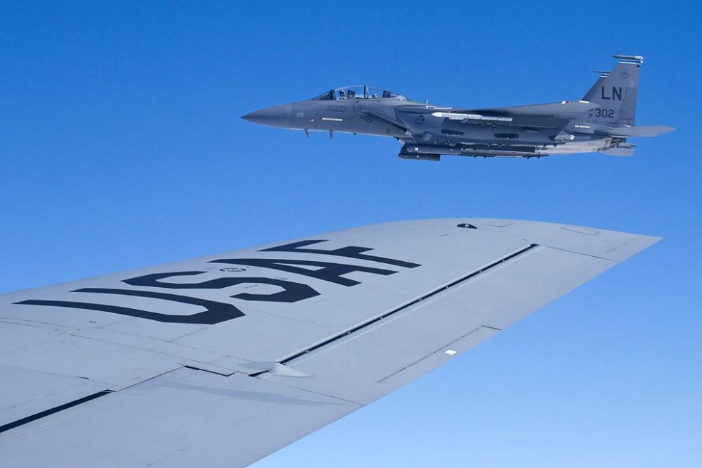 © Ben Montgomery - Boeing F-15E Strike Eagle • 100thARW Aerial Refuelling Sortie