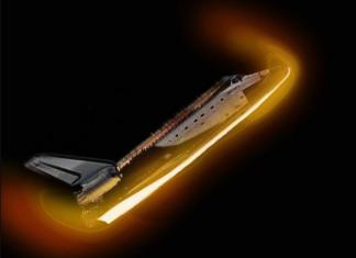 Space Shuttle Re-Entry Picture