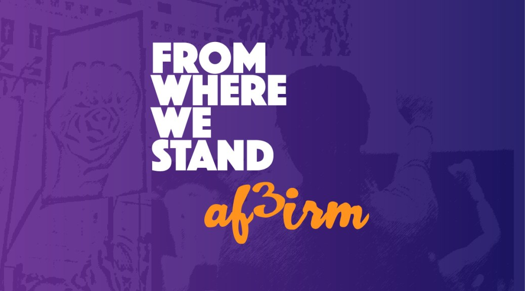 From Where We Stand - AF3IRM
