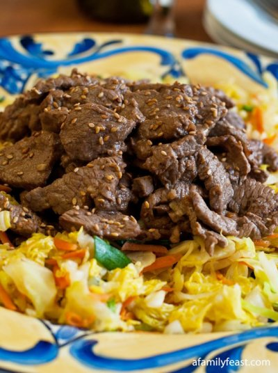 Beef and Cabbage Stir Fry - A Family Feast