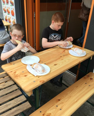 Kids eating out