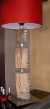 bureaulamp 100 cm €350,- incl kap