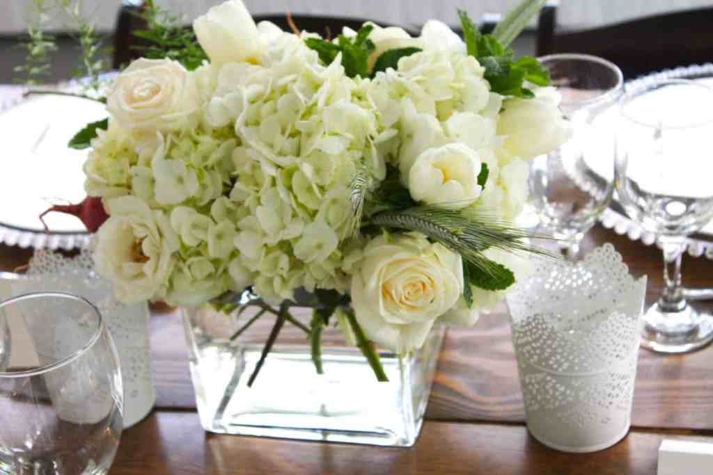 Flower Center Pieces at the