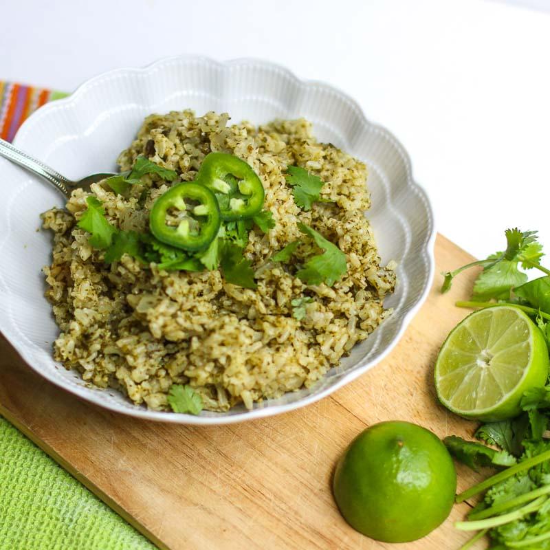 Jalapeño, Cilantro, Lime Brown Rice Recipe