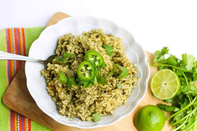 Jalapeño, Cilantro, and Lime Brown Rice
