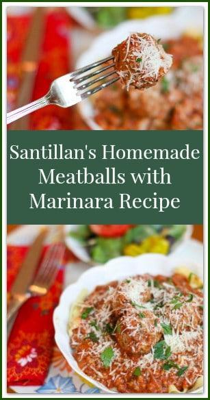 Santillan's Homemade Meatballs with Marinara