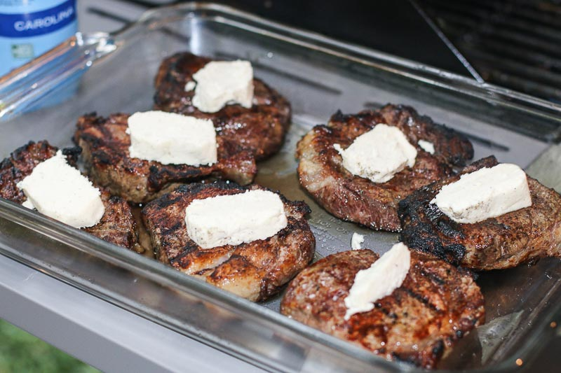 This Blue Cheese Compound Butter Recipe is simple, easy, and deliciously flavorful. It is the perfect way to jazz up a boring meal into a gourmet delight! And it is absolutely INCREDIBLE on steak!