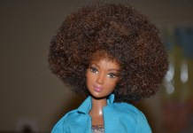 black natural hair barbie