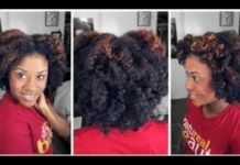 braid and curl nightime routine