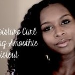 twist out with shea smoothie