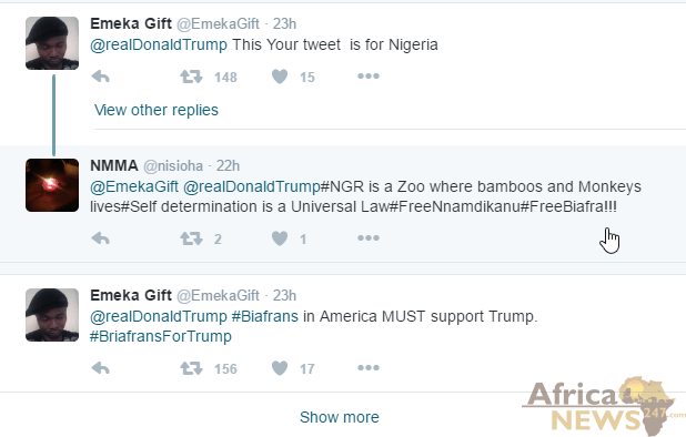 donald trump tweet nigeria