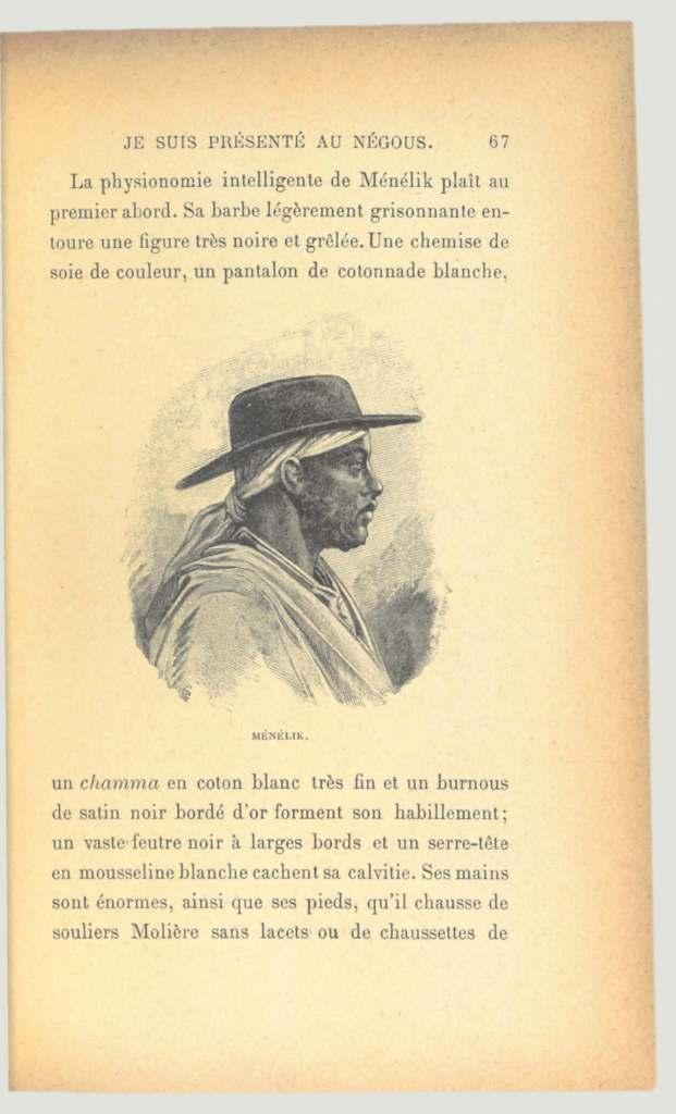 Menelik Vanderheym une expedition avec le negus