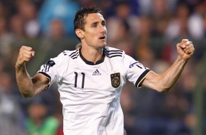 File picture of German striker Miroslav Klose, who has signed with Serie A club Lazio