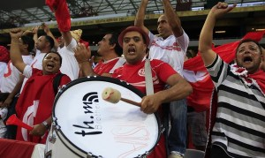 Tunisia's supporters sing during their African Nations Cup (AFCON 2013) Group D soccer match against Togo in Nelspruit