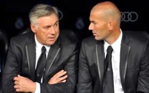Ancelotti et Zidane