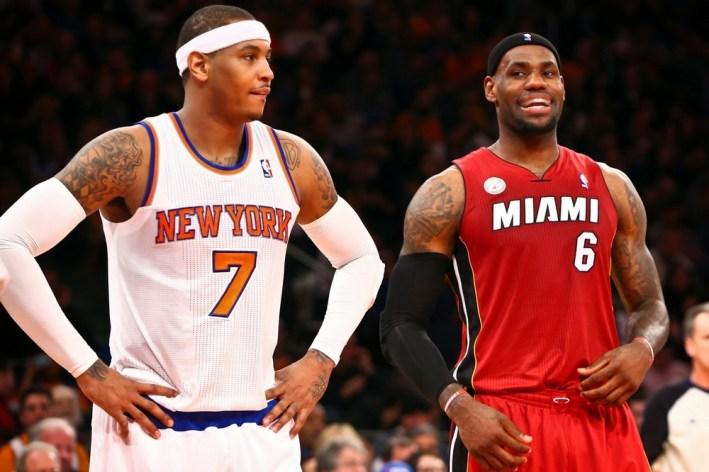 Carmelo Anthony_LeBron James