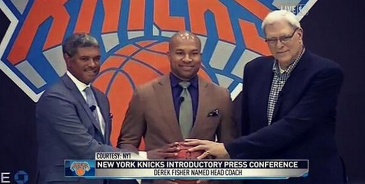 derek fisher_coach new york knicks