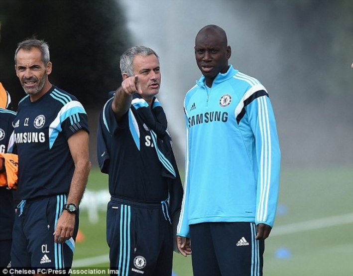Demba Ba et José Mourinho