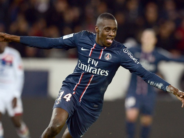 Paris Saint-Germain's French midfielder Blaise Matuidi celebrates after scoring a goal during the French L1 football match Paris Saint-Germain (PSG) vs Lyon (OL), on December 16, 2012 at the Parc des Princes stadium in Paris.   AFP PHOTO / FRANCK FIFE