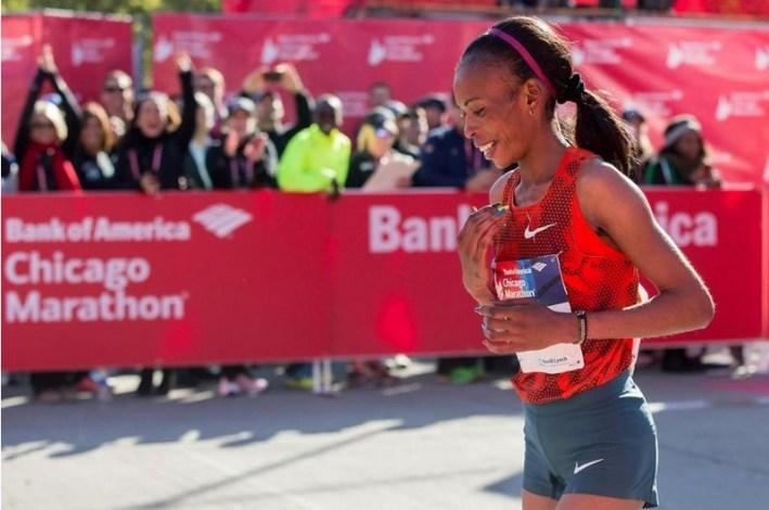 Rita Jeptoo_ vainqueur du marathon de chicago 2014