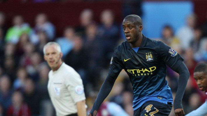 Manchester City's Yaya Toure during the game