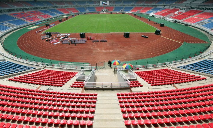 "General view of the Estadio de Bata ""Bata Stadium"" which will host the opening ceremony for the African Nations Cup, in Bata"