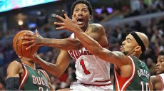 derrick rose_bulls vs bucks game1 playoffs