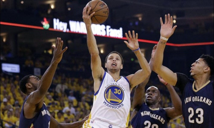 stephen curry_golden state vs new orleans game1 playoffs