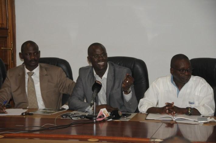 les responsables de la fédération sénégalaise d'athlétisme ce mercredi en conférence de presse