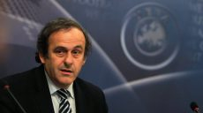 UEFA President Michel Platini looks on at the beginning of the UEFA Executive Committee meeting in Prague