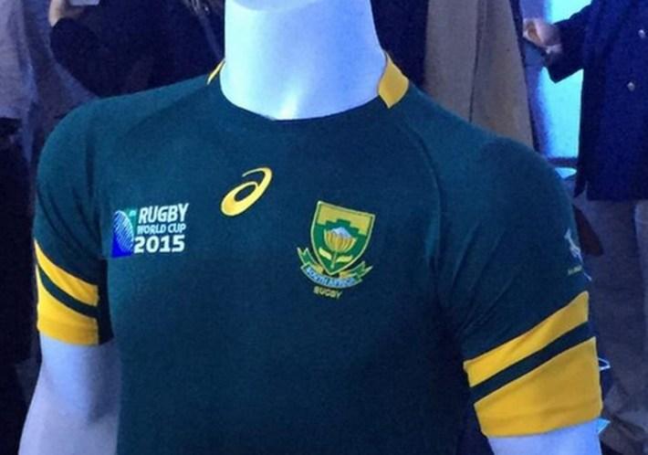 maillot springboks pour le mondial 2015 de rugby