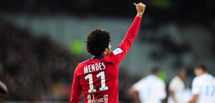 joie de Ryan Mendes (LOSC) apres son but -