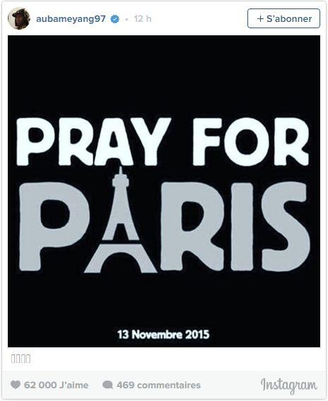 aubameyang instagram paris