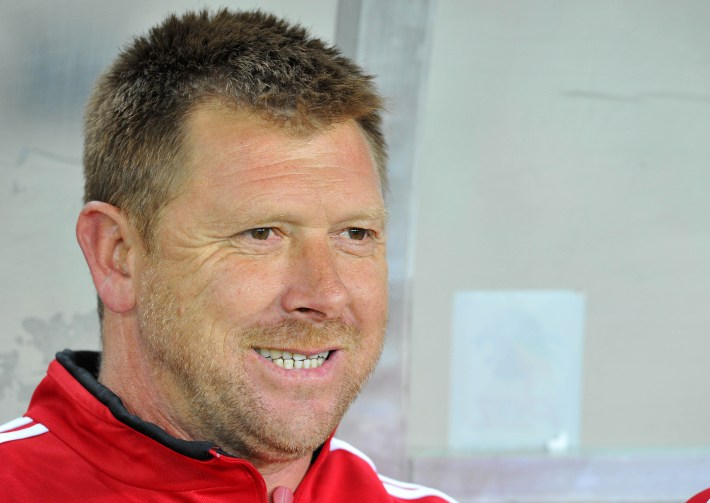 Eric Tinkler, Assistant coach of Orlando Pirates during the Absa Premiership match between Orlando Pirates and Ajax Cape Town at Orlando Stadium on 25 September 2012 ©Chris Ricco/BackpagePix
